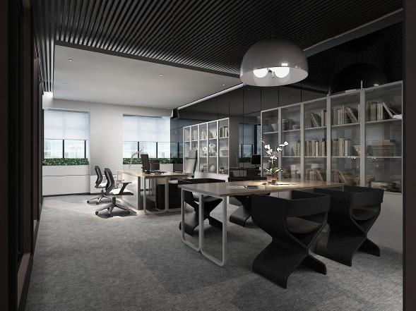 办公室照明灯具宜使用荧光灯,办公室的一般照明宜设计在工作区的两侧