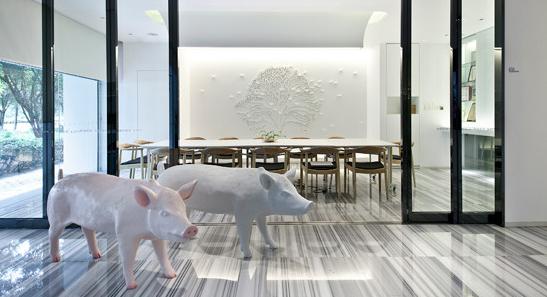黑白灰办公室空间设计 - 中美环艺-办公室装修,办公室